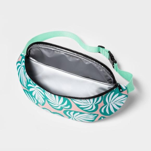 Target Handbags - Fanny Pack Cooler Tropical leaf - Sun Squad